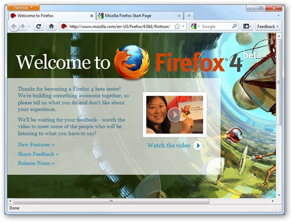 Mozilla Firefox 4 Beta 2 Available For Download