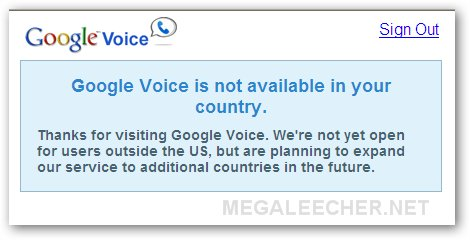 Google Voice Outside USA