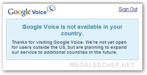 Google Voice Outside USA