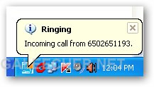 Google Voice Incoming Call