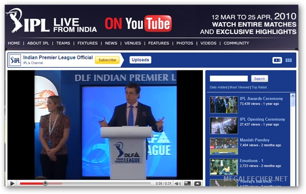IP_L 2010 Match Live Video Feed
