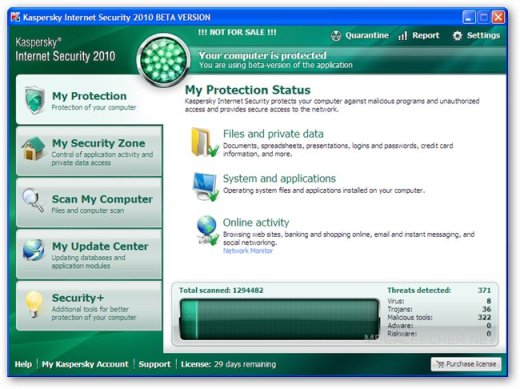 Hactivated Copy Of Kaspersky Internet Security 2010