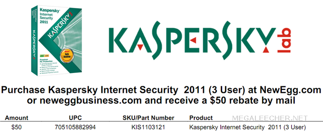 KIS 2011 Mail In Rebate Coupon