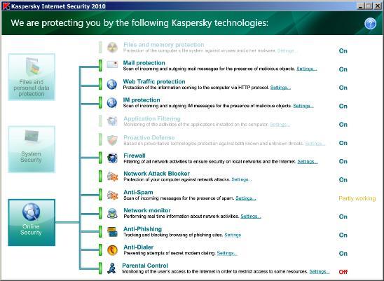 KIS 2010 Captura de pantalla