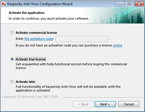 Kaspersky 2010 License Activation Key