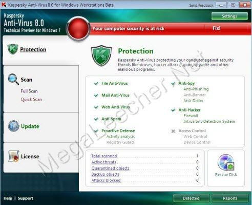 Kaspersky Anti-Virus For Windows 7