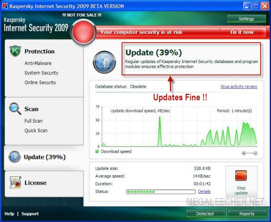Kaspersky Internet Security 2009 Updating After Hack