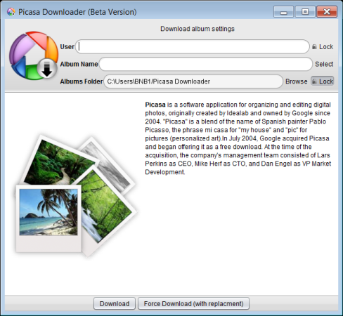 Picasa Web Album Bulk Downloader