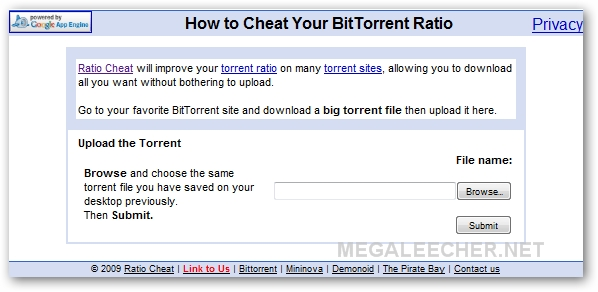 Cheat Torrent Ratio