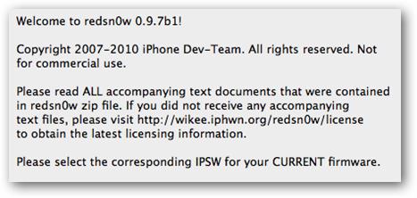 redsn0w 0.9.7 Beta 2