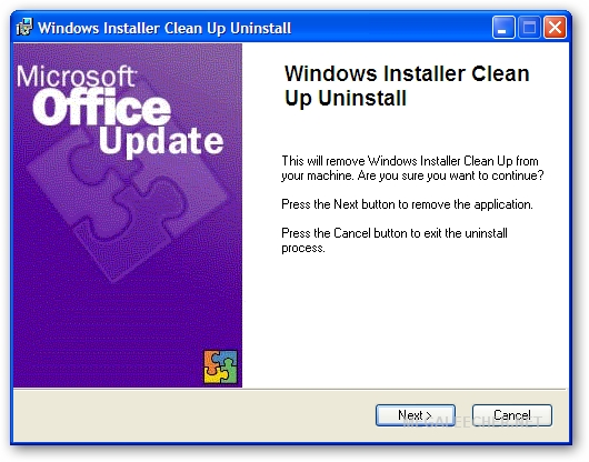 Setup For Windows Installer Cleanup Utility