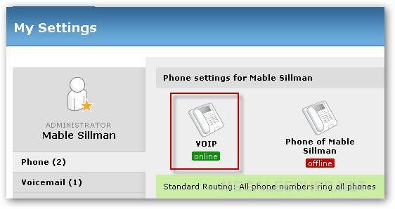 VOIP phone online