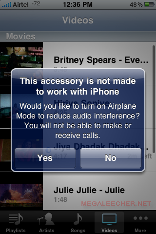 This Accessory Is Not Made To Work With iPhone Error Screen