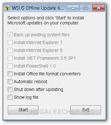 WSUS Offline Updater on Target System