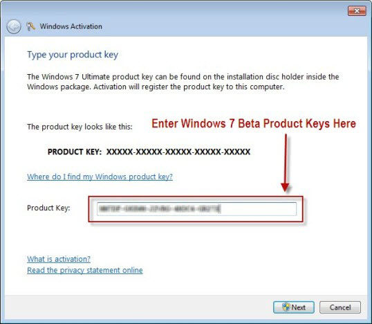 win 7 ultimate 64 bit keys