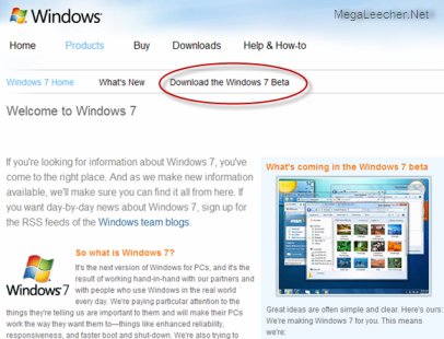 Windows 7 Beta