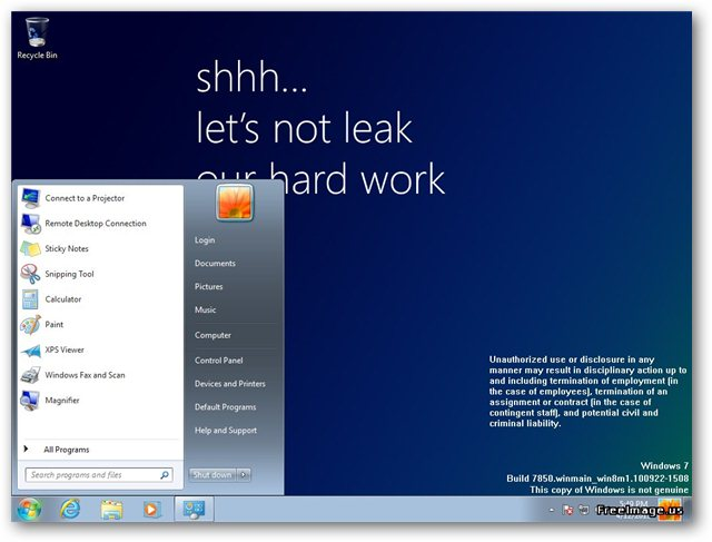 Windows 8 6.1.7850.0.winmain_win8m1.100922-1508_x86fre_client-enterprise_en-us.iso Leak