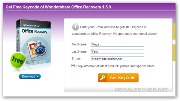 Free Office Recovery Software Registration