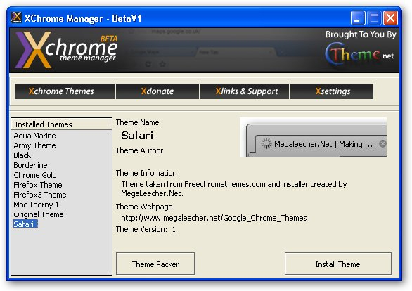 XChrome Theme Manager