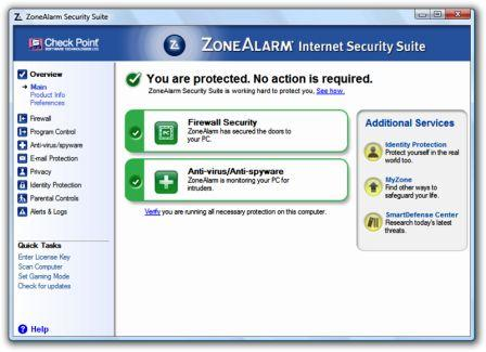 ZoneAlarm Internet Security Suite