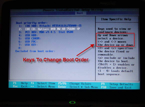 acer boot key