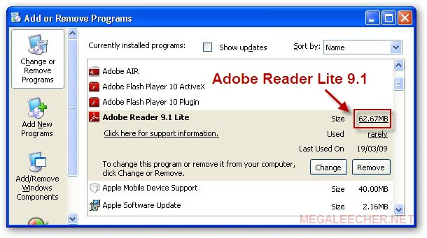 Adobe Reader Lite 9.1