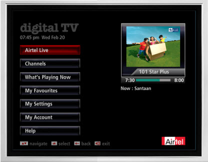 Airtel DTH EPG. Airtel DTH Pricing: As an introductory offer Airtel Digital