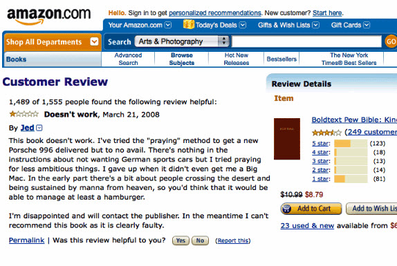 Amazon Bible Book Review