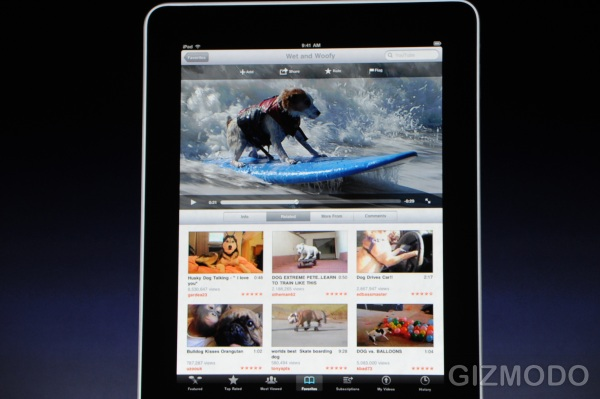 Apple iPad Web-browser