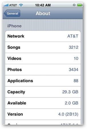 iPhone OS 4.0 Screen