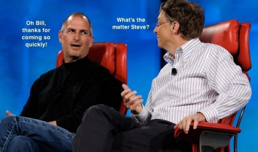 Bill Gates Telling Steve Jobs The Bright Side Of iPhone Jailbreaking !