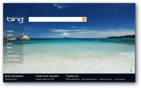 HTML 5 Powered Bing