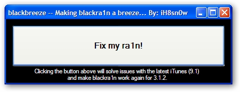 Blackbreeze iTunes Syncing Fixer