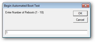 Number of boot loops for analysis