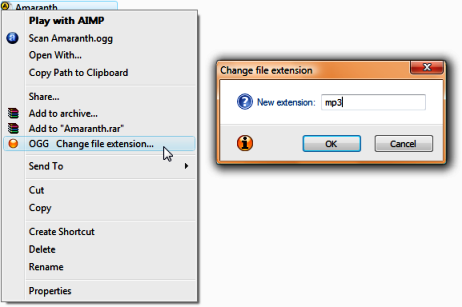 Changing File Extension