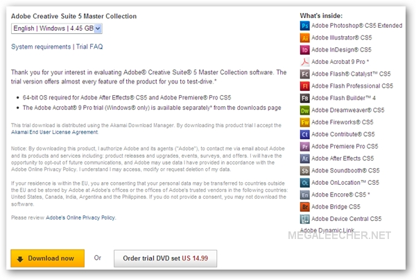 Adobe CS5 Trial Download Installer