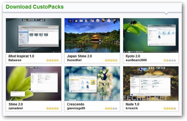 حصريا برنامج CustoPacks-1.0.0 لأفضل témés