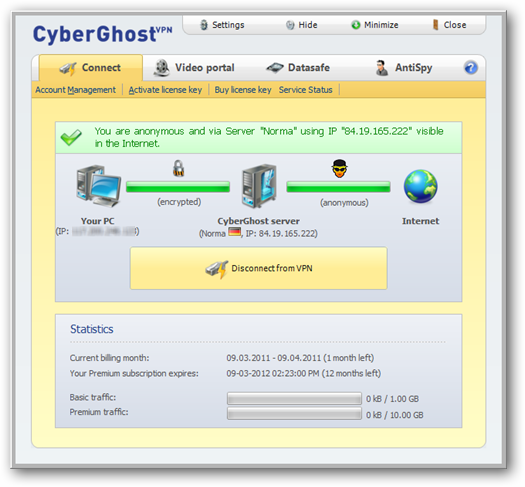 CyberGhost VPN Client Application