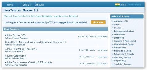 Download VTC Tutorials