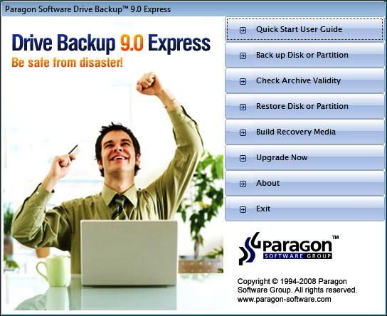 Paragon Drive Backup 9.0