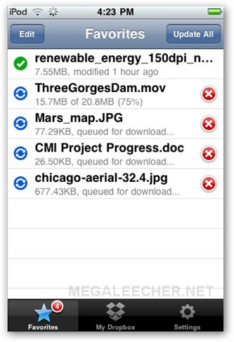 Dropbox for iPhone File Sync
