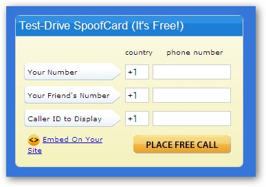 Fake Called ID Using SpoofCard