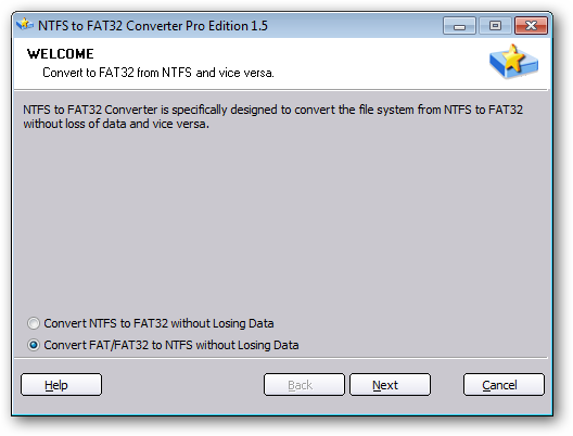 NTFS to FAT32 Converter Pro Edition 1.5