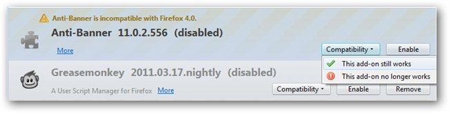 Firefox 4 Addon Compatibility Reporter