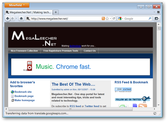 Firefox 4 Preview Build With New Faster JägerMonkey JavaScript