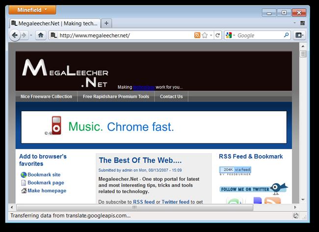 Firefox Minefield