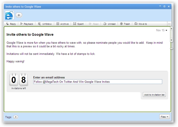 Google Wave Invite Giveaway