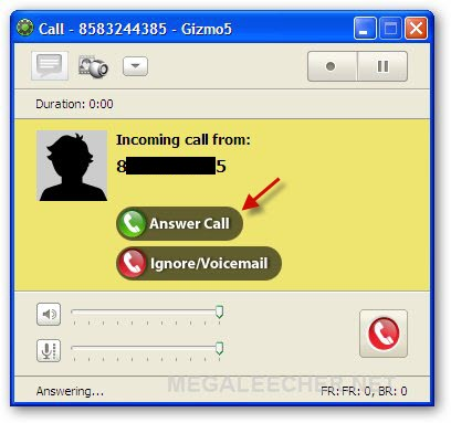 Gizmo Incoming Call From Google Voice