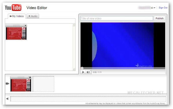 Free Online Video Editor By Youtube