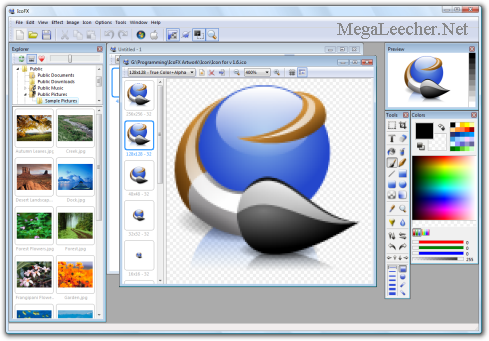 image editor icon. iCoFX Icon Editor Main Screen. ICoFX Features: